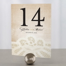 Weddingstar 1165-06 Vintage Lace Table Number