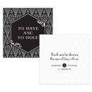 Weddingstar 1239-01 Black and Gold Opulence Square Tag