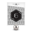 Weddingstar 1239-06 Black and Gold Opulence Table Number