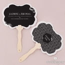 Weddingstar 1239-39 Black and Gold Opulence Personalized Hand Fan