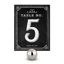 Weddingstar 1253-06 Table Numbers with Chalkboard Print Design