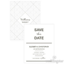 Weddingstar 1254-07-c44 City Style Save The Date Card Charcoal