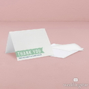 Weddingstar 1255-34-c30 Smart Type Thank You Card With Fold Daiquiri Green