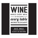 Weddingstar 1257-12-c44 Bistro Bliss Rectangular Label Charcoal