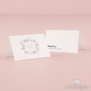 Weddingstar 1281-32-d03 Monogram Simplicity Place Card With Fold - Botanical Wreath