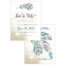 Weddingstar 1282-07 Feather Whimsy Save The Date Card