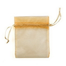 Weddingstar 2012-79 Organza Fabric Drawstring Bag - Large Ivory