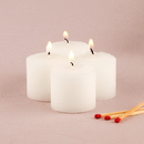 Weddingstar 3244-08 Decor Votive Candles White