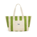Weddingstar 41034-40 Large Striped Canvas Tote Bag - Green