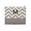 Weddingstar 41039-77 Chevron Makeup Bag - Gray