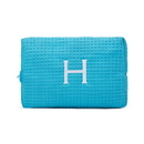 Weddingstar 41064-28 Large Cotton Waffle Makeup Bag - Turquoise