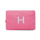 Weddingstar 41064-31 Large Cotton Waffle Makeup Bag - Hot Pink