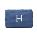 Weddingstar 41064-32 Large Cotton Waffle Cosmetic Bag - Navy