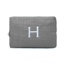 Weddingstar 41064-77 Large Cotton Waffle Makeup Bag - Gray