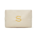 Weddingstar 41064-79 Large Cotton Waffle Makeup Bag - Ivory