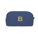 Weddingstar 41065-32 Small Cotton Waffle Makeup Bag - Navy