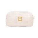 Weddingstar 41065-79 Small Cotton Waffle Makeup Bag - Ivory