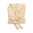 Weddingstar 41096-24 Saturday Hooded Lounge Robe - Oatmeal With Pink Stitching Small / Medium