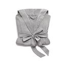 Weddingstar 41099-77 Saturday Hooded Lounge Robe - Gray With White Stitching Large / X-Large