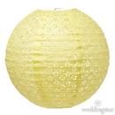 Weddingstar 43004-09 Large Eyelet Paper Lantern - Light Yellow