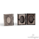 Weddingstar 4449-77 Vintage Book Locket Cufflinks - Antique Silver