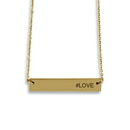 Weddingstar 4485-55 Horizontal Rectangle Tag Necklace