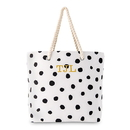 Weddingstar 4493-10 Dalmatian Dot Tote - Black on White