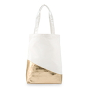 Weddingstar 4528-55 Large Canvas Tote Bag with Metallic Gold