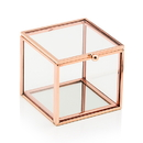 Weddingstar 4589-56 Small Glass Jewelry Box with Rose Gold Edges
