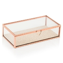 Weddingstar 4590-56 Glass Jewelry Box with Rose Gold Edges