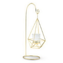 Weddingstar 4616-55 Large Gold Geometric Hanging Tealight Holder