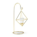 Weddingstar 4617-55 Small Gold Geometric Hanging Tealight Holder