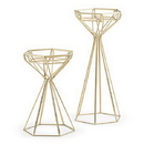 Weddingstar 4618-55 Tall Gold Geometric Candle Holder Set