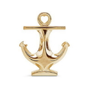 Weddingstar 4633-55 Polished Gold Anchor Bottle Opener