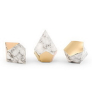 Weddingstar 4707-55 Modern Geo Marble And Gold Party Favor Boxes