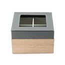 Weddingstar 4731-77 Wood And Faux Leather Keepsake Box With Glass Lid