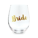 Weddingstar 4753-55 Stemless Toasting Wine Glass Gift For Wedding Party - Bride