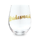 Weddingstar 4754-55 Stemless Toasting Wine Glass Gift For Wedding Party - Bridesmaid
