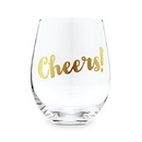 Weddingstar 4757-55 Stemless Toasting Wine Glass Gift For Wedding Party - Cheers