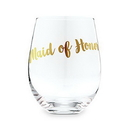 Weddingstar 4823-55 Stemless Toasting Wine Glass Gift For Wedding Party - Maid Of Honor