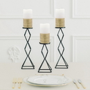 Weddingstar 4925-55 Artificial Flameless LED Pillar Candle - White & Gold Wire