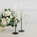 Weddingstar 4926-55 Artificial Flameless LED Taper Candle Set of 2 - Gold Ombre