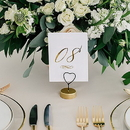Weddingstar 4943-55 Small Wedding Table Place Card Holder - Double Heart - Set of 6