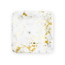 Weddingstar 4958-55 Small Square Disposable Paper Party Plates - Geo Marble - Set of 8