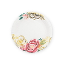 Weddingstar 4960-25 Small Round Disposable Paper Party Plates - Modern Floral - Set of 8