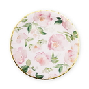 Weddingstar 4961-05 Large Round Disposable Paper Party Plates - Floral Garden Party - Set of 8