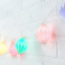 Weddingstar 4978-98 Decorative Battery Operated LED String Lights - Geo Paper Lantern