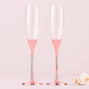 Weddingstar 6011 Rose Gold Champagne Glasses with Rhinestone Crystals