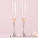 Weddingstar 6017 Hammered Gold and Polished Silver Wedding Champagne Glasses