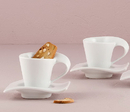 Weddingstar 6042 Modern White Cup and Saucer Favor Set (4)